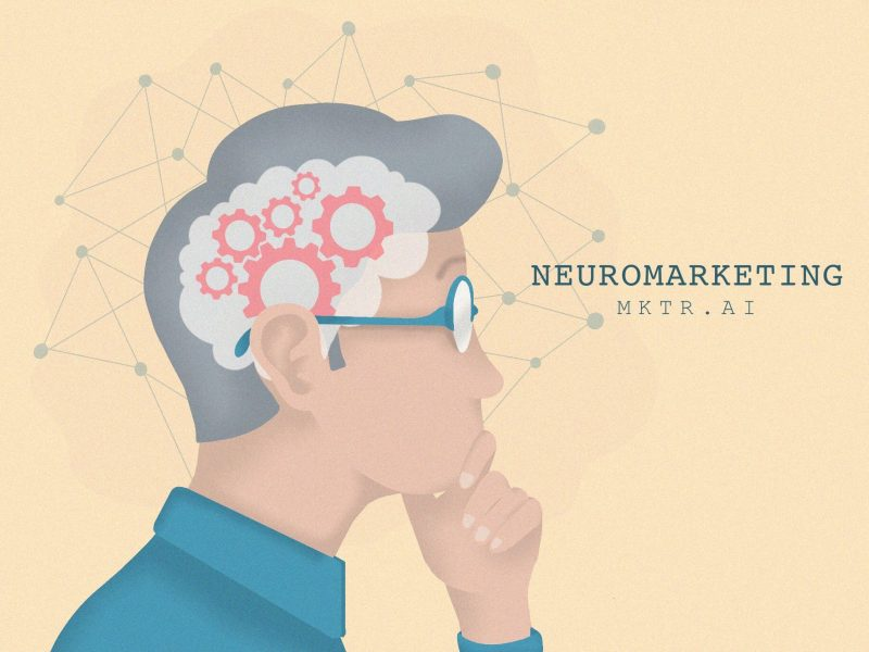 Illustrated cover image of a man, showing his brain and neural network connections in his head - by mktr.ai